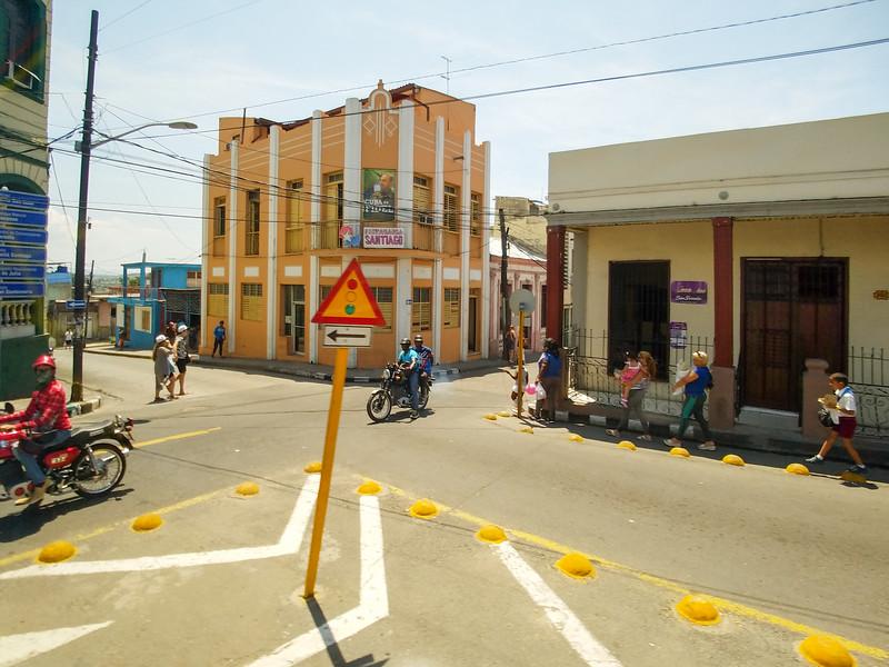 Street scenes of Santiago de Cuba.