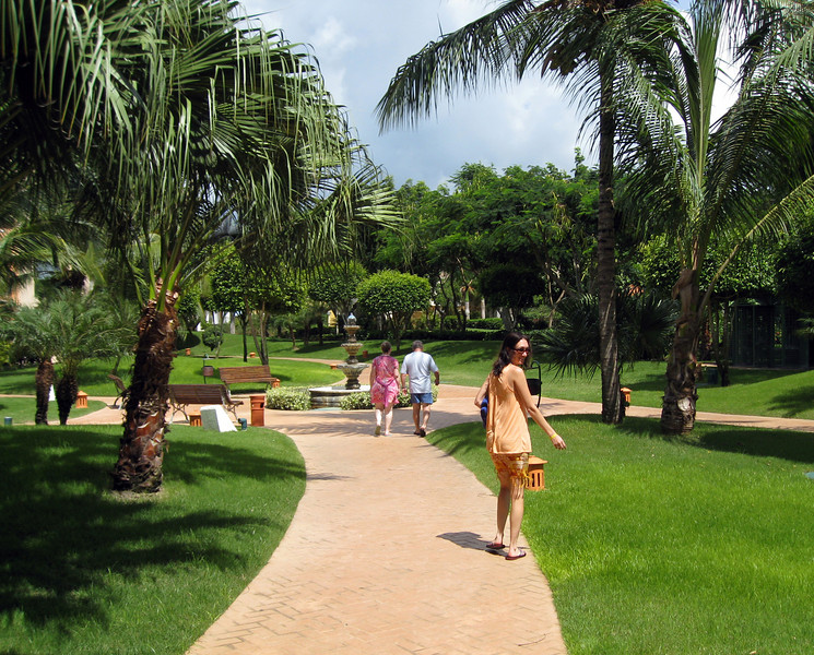 A walk through the resort - in the gardens...
