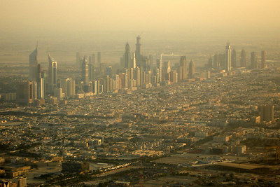 The buildings sprout up from Sheikh Zayed Road - Dubai, UAE ... November 19, 2006 ... Photo by Rob Page III