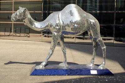 The disco camel outside the Emirates Hotel - Dubai, UAE ... November 19, 2006 ... Photo by Rob Page III