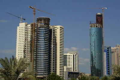 There are only a couple of buildings going up - Dubai, UAE ... November 19, 2006 ... Photo by Rob Page III