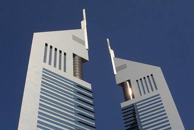 The top of the Emirates Towers - Dubai, UAE ... November 19, 2006 ... Photo by Rob Page III