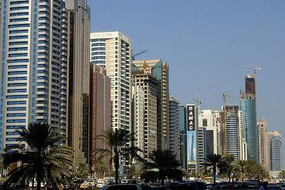 The skyline along Sheikh Zayed Road - Dubai, UAE ... November 19, 2006 ... Photo by Rob Page III
