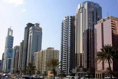 The buildings of Sheikh Zayed Road - Dubai, UAE ... November 19, 2006 ... Photo by Rob Page III