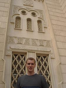 Rob, getting ready to go into the Jumeirah Mosque - Dubai, UAE ... November 19, 2006 ... Photo by Emily Conger