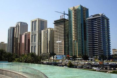 The buildings that line Sheikh Zayed Road - Dubai, UAE ... November 19, 2006 ... Photo by Rob Page III