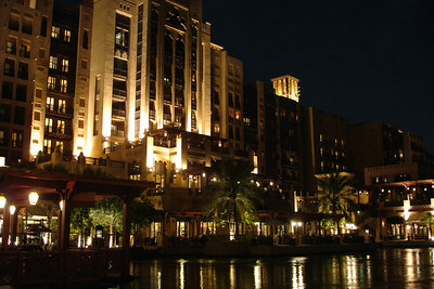 The Mina A'Salam, Madinat Jumeirah.  This is a nice resort near the Burj Al Arab.  You are escorted to your room via gondola - Dubai, UAE ... December 1, 2006 ... Photo by Rob Page III