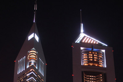 The top of the Emirates Towers - Dubai, UAE ... December 4, 2006 ... Photo by Rob Page III
