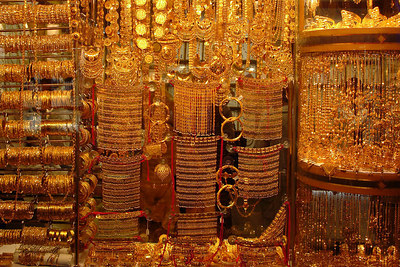 The Gold Souqs.  Dubai has extensive gold and jewelery souqs that are of high quality while the prices are plesantly low - Dubai, UAE ... December 2, 2006 ... Photo by Rob Page III