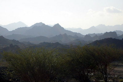 The beautiful Hajar Mountains on the border of the UAE and Oman - Oman ... December 3, 2006 ... Photo by Rob Page III