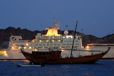 The old and the new - Muttrah, Oman ... December 4, 2006 ... Photo by Rob Page III