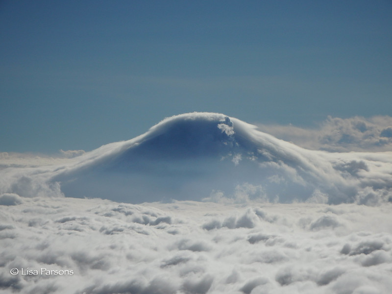Cloud Shroaded Volcano