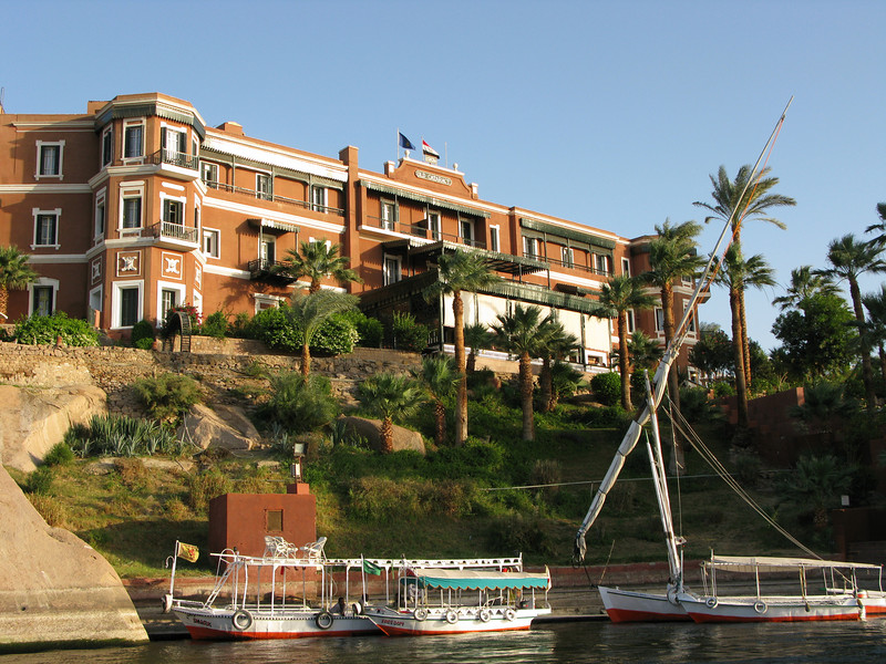 King Fouad's Palace which became the Old Cataract Hotel were Death on the Nile was Filmed