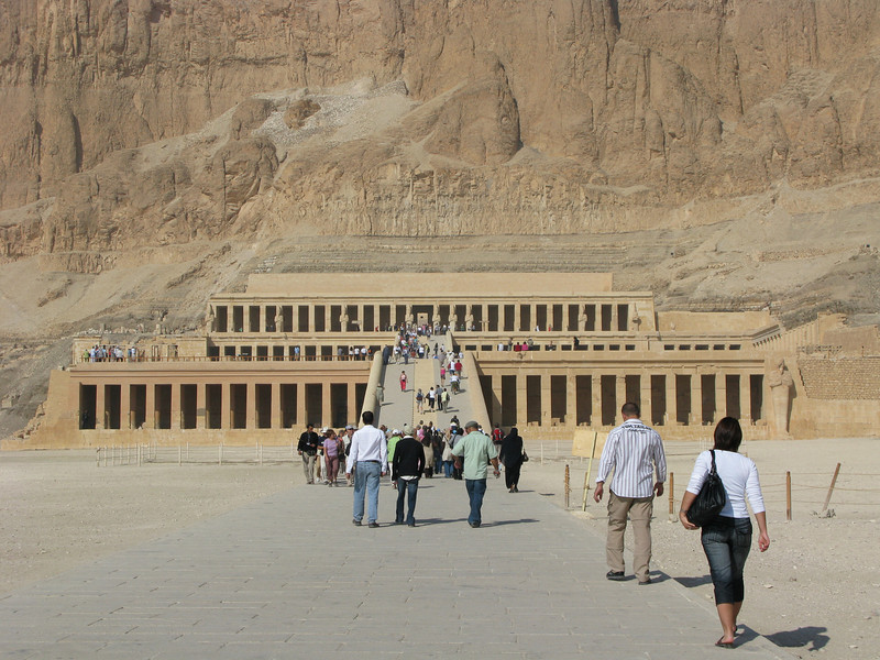 Temple entrance of Queen Hatshepsut in the Valley of the Queens