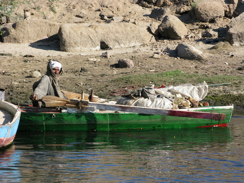 Egypt on the Nile River at Aswan
