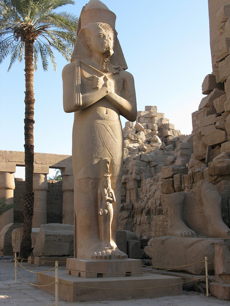 Statue inside Karnak Temple in Luxor