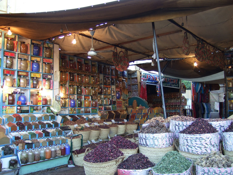 Spices for sale in the Aswan Bazaar