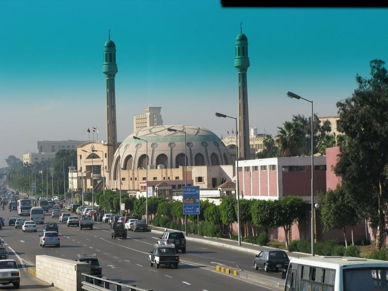 In traffic in Cairo