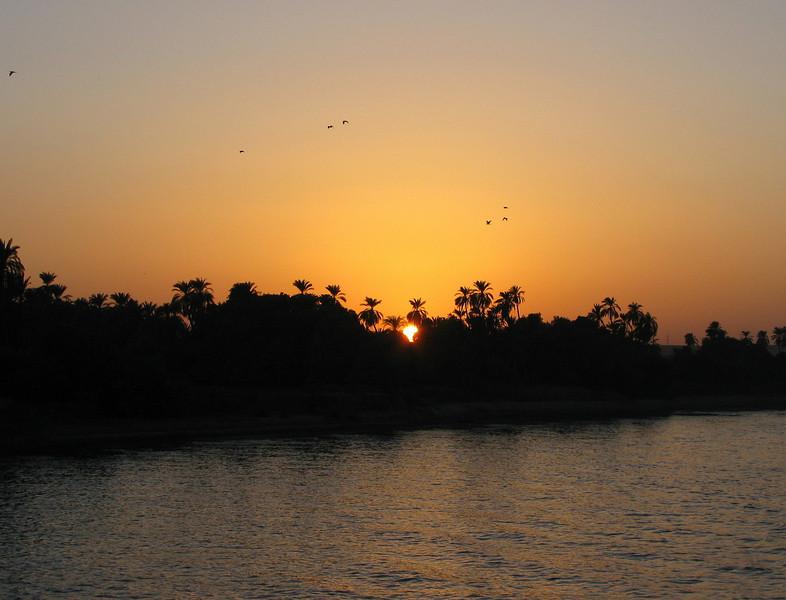 Sunset along the Nile
