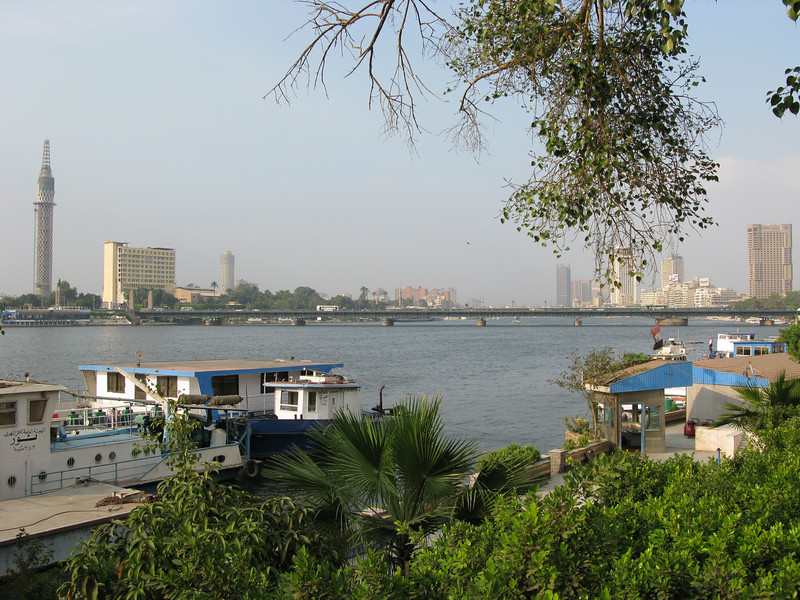Bridge across the Nile RIver near the Semiramis Intercontinental Cairo