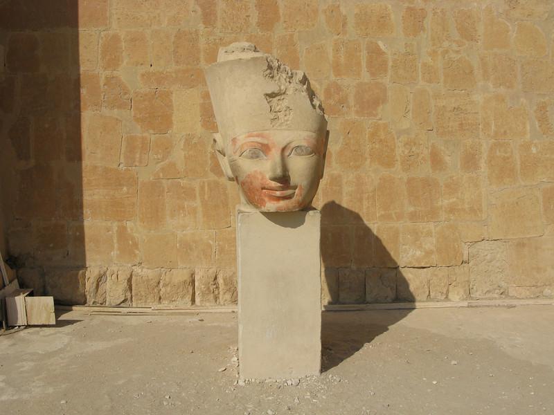 Stone head at Queen Hatshepsaut's Temple
