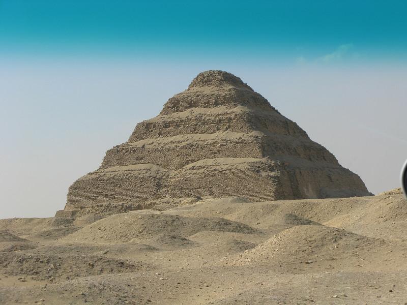 Stepped Pyramid at Saqqara from the Tour Bus