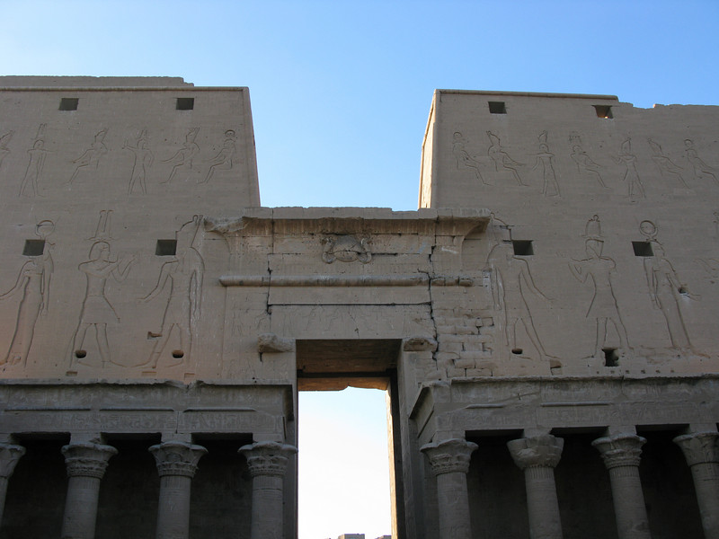 The holes were to provide light and air to passages inside the Temple