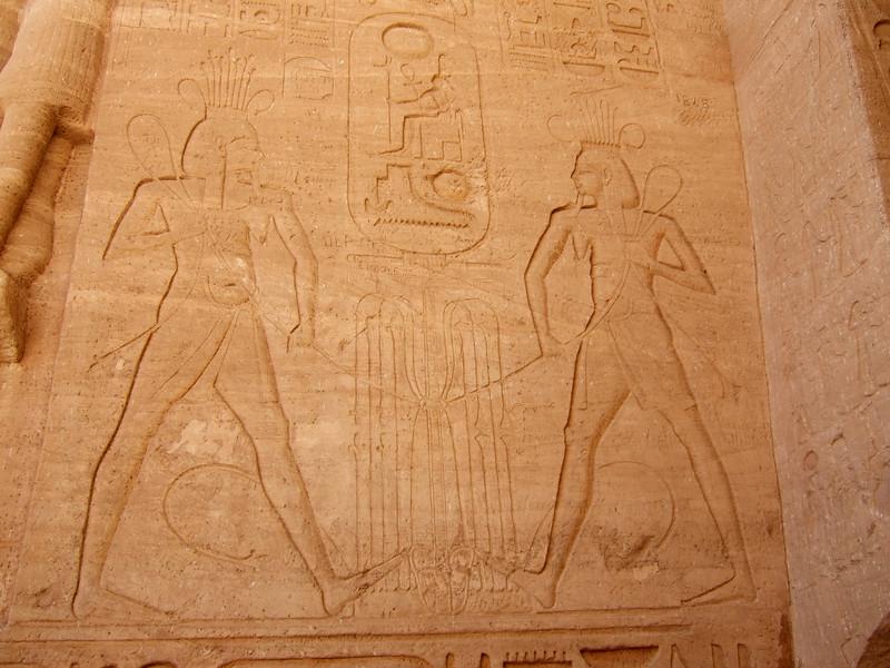King Ramesses II and Queen Nefertari at Abu Simbel