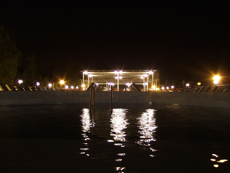 The M/S Miriam Sun Deck at Night