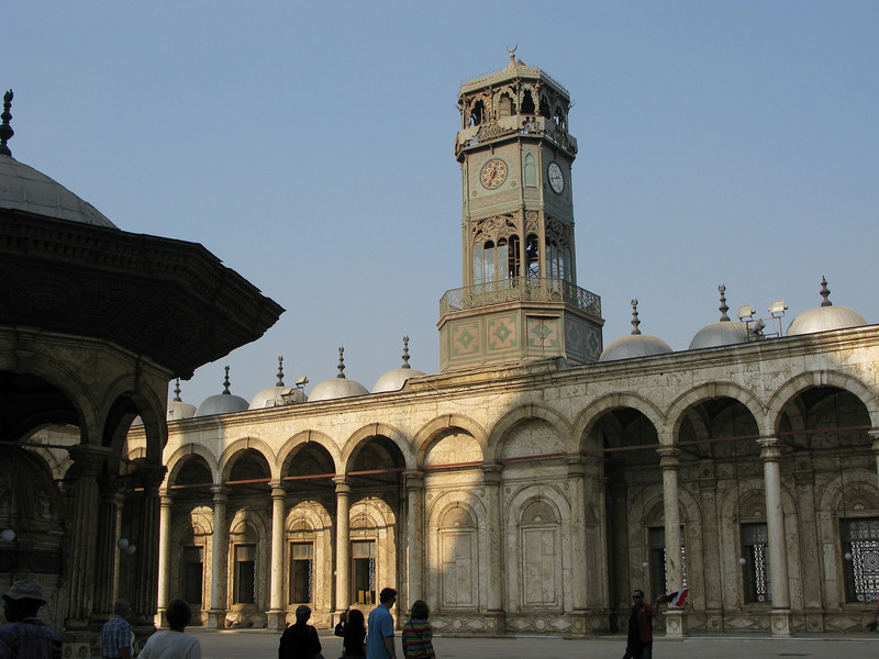 Inside the Mosque of Mohammed Ali in Cairo - Clock Tower Swapped for Obelisk with France
