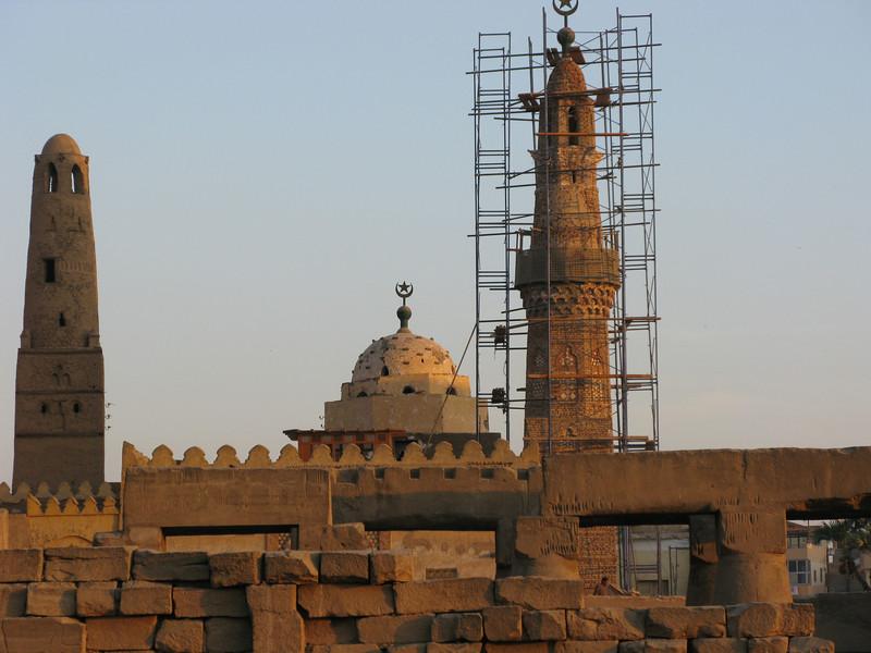 Restoration work at Luxor Temple