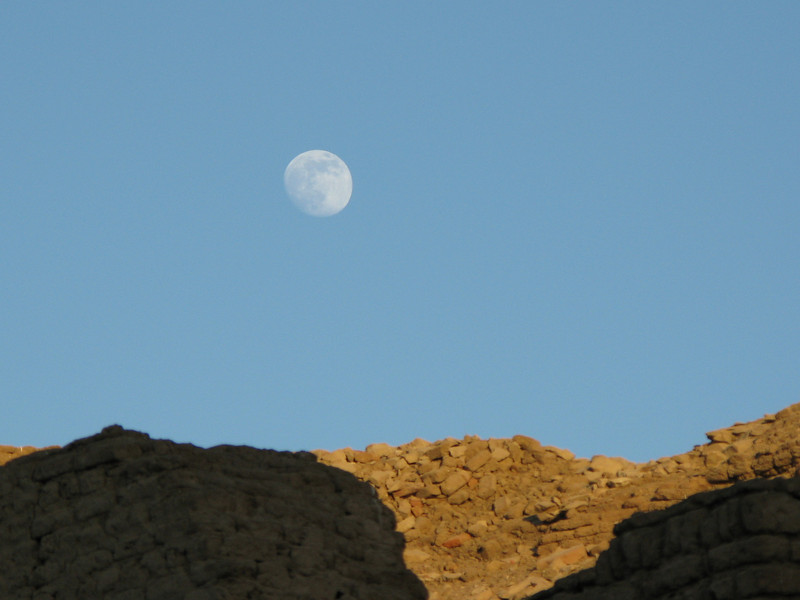 Moon over the Temple of Sobek Then