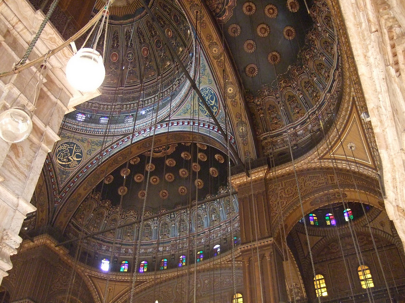 Ceiling of the Mohammed Ali Mosque in Cairo