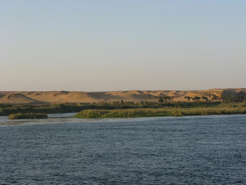 The Sahara Desert along the Nile