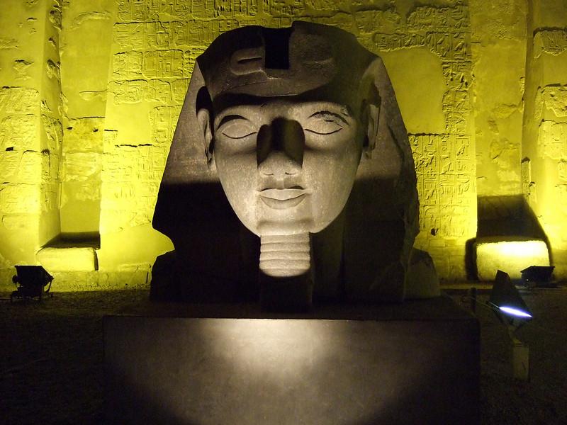 Pharonic head at Luxor Temple