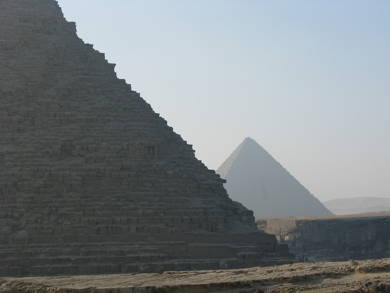 Pyramid of Mekerrinus in the Distance