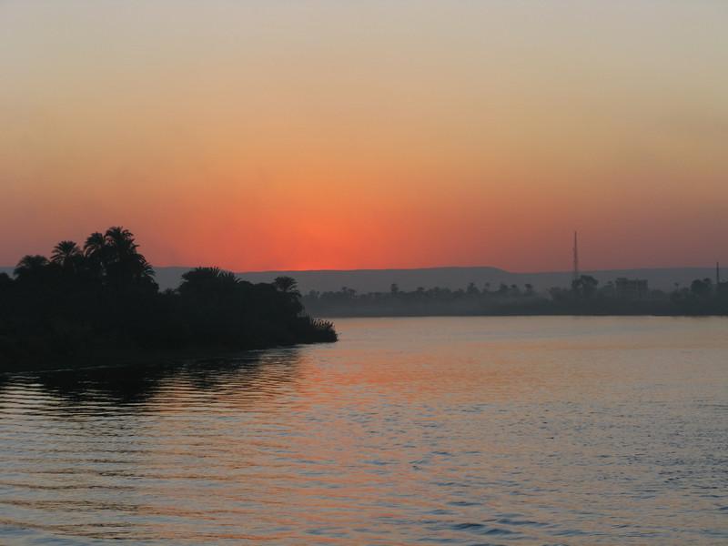 Smoke at Sunset on the Nile