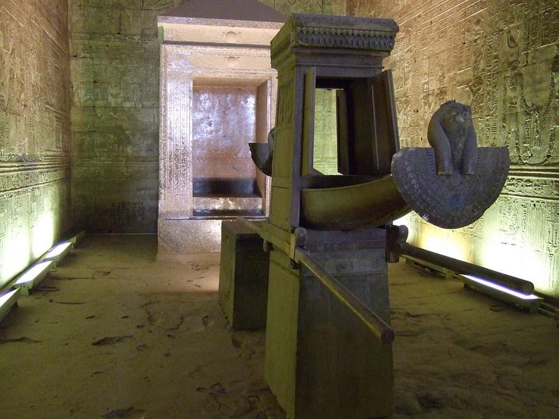 The Solar Boat inside a Chamber in Edfu Temple