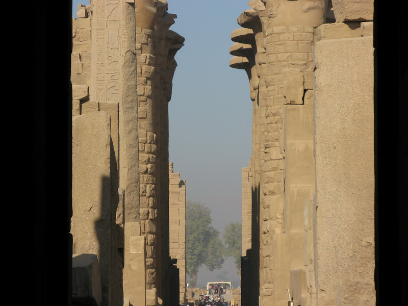 Columns at the Entrance to Karnak Temple in Luxor