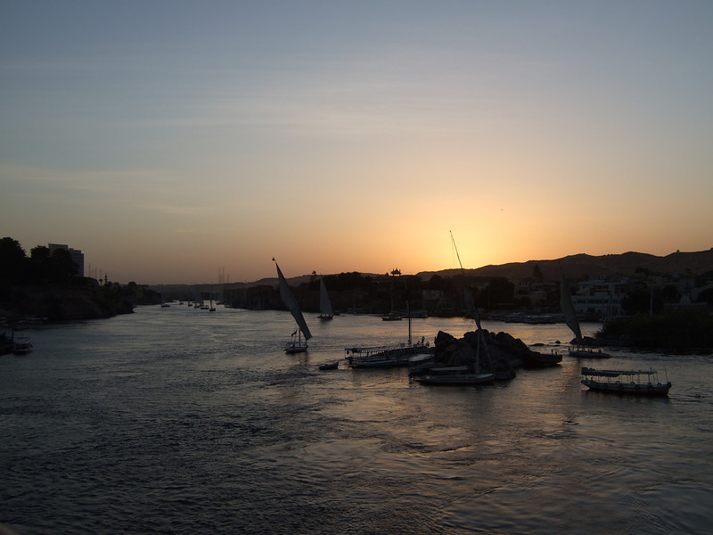 Sunset on the Nile at Aswan
