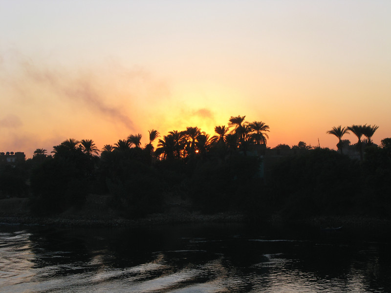 Sunset with Fires on the Nile