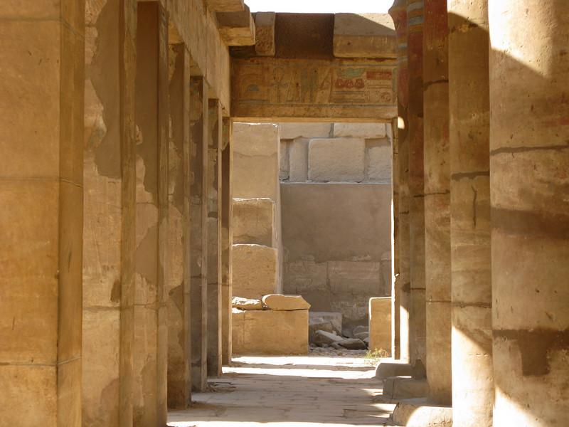 Some of the 134 Columns inside Karnak Temple