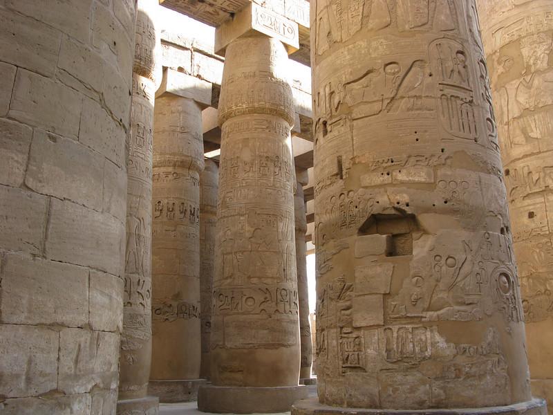 Columns inside Karnak Temple in Luxor