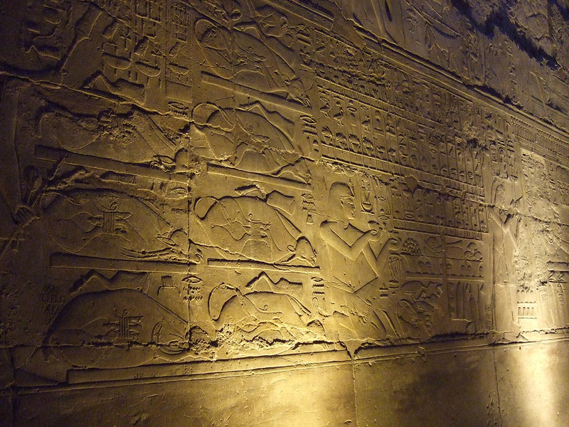 Wall details in Luxor Temple