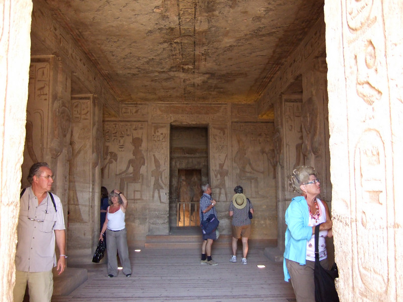 Main Hall inside Abu Simbel