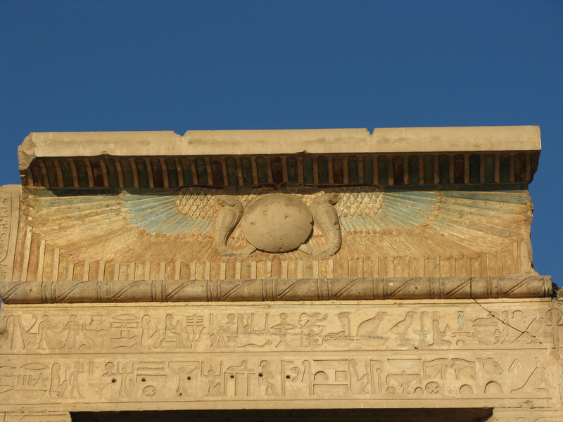 Top Details and Colors at the Temple of Sobek Then