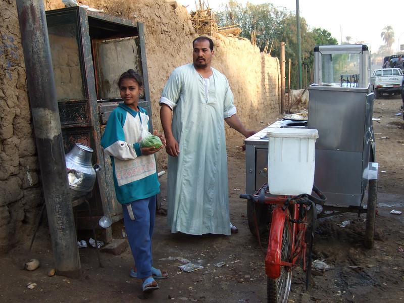 Local street vendor in Luxor