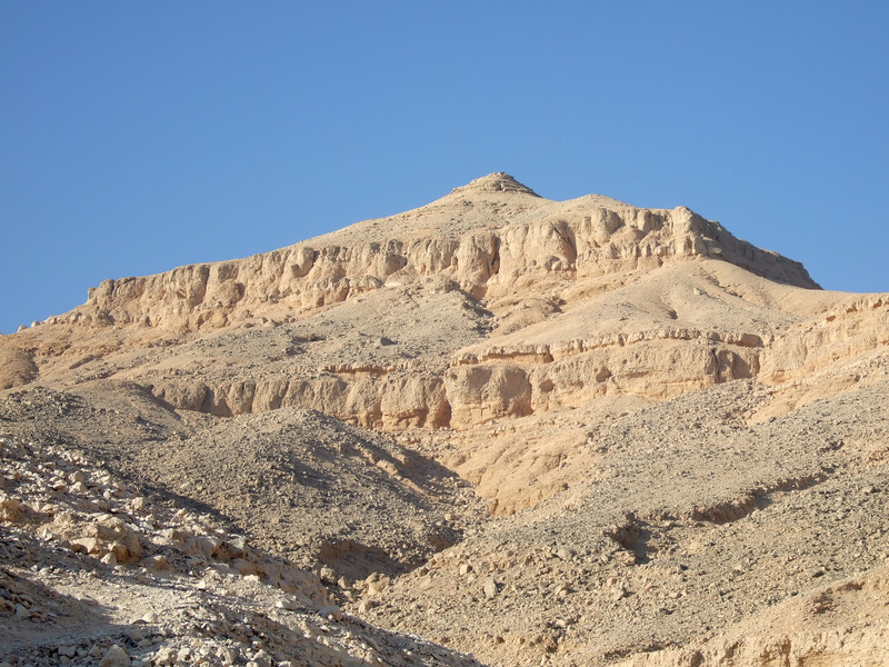 Pyramid shape at the top of the Valley of the Kings