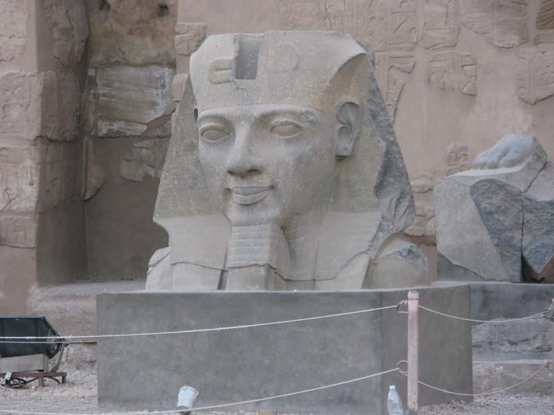Statue at Luxor Temple Entrance circa 550 BC