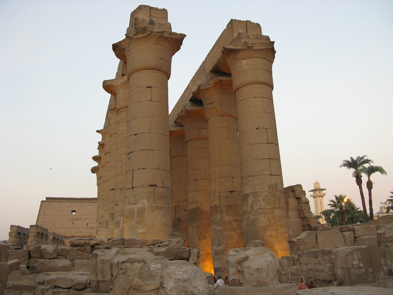 Columns at Luxor Temple circa 550 BC